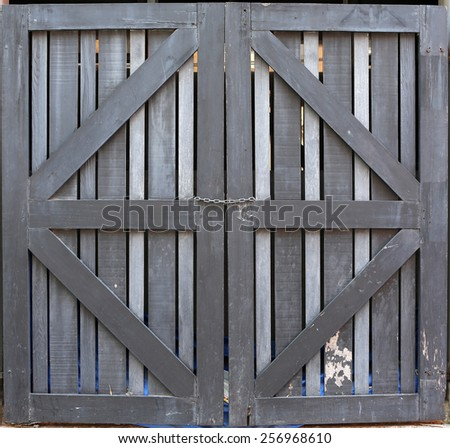 chain with doors  - stock photo