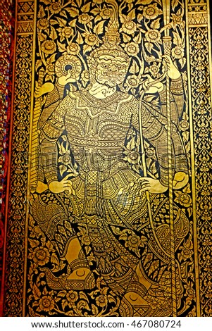 CHAING-MAI-THAILAND-DECEMBER 5  Traditional Thai style art of pattern on & Vintage Traditional Thai Style Art Painting Stock Photo 676503208 ...