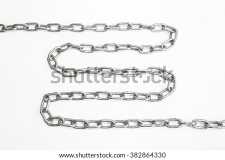 chains on isolated background