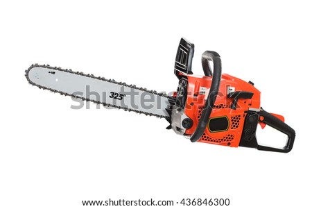 Chainsaw. isolated - stock photo