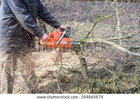 chainsaw with hands