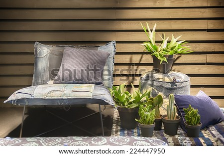 chair and home decoration  - stock photo
