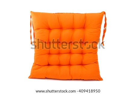 chair cushion isolated on white background - stock photo