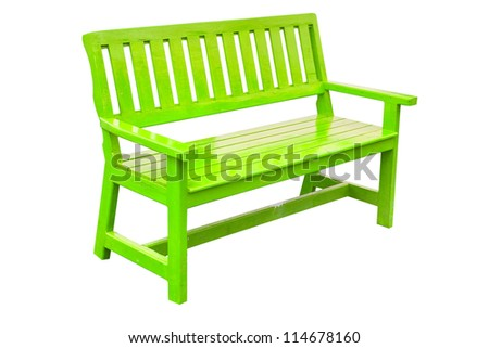 Chair Green classic on white - stock photo