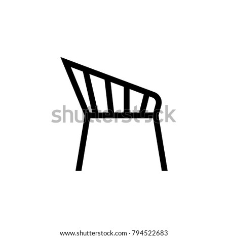 chair icon. Elements of furniture icon. Premium quality graphic design. Signs, outline symbols collection icon for websites, web design, mobile app, info graphic on white background