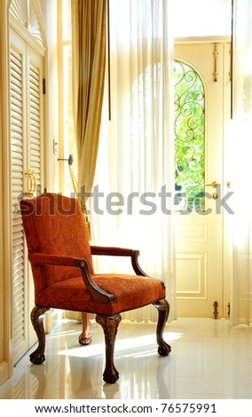 chair in room - stock photo
