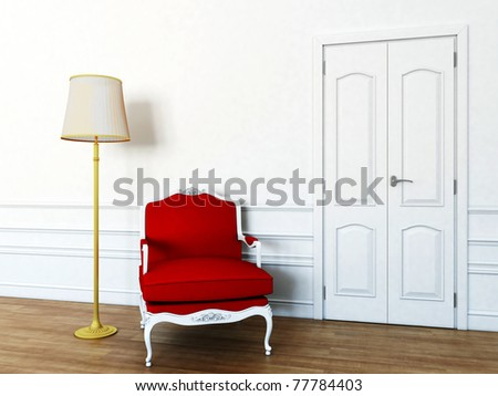chair in the living room - stock photo