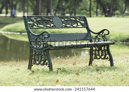 Chair in the park. - stock photo