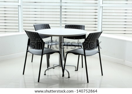 Chair in the room for the meeting - stock photo