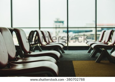 Chair in the terminal.
