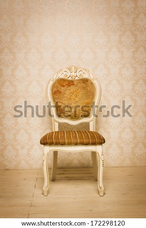 Chair in the vintage style  - stock photo