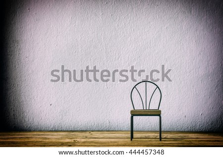 chair iron furniture on wood