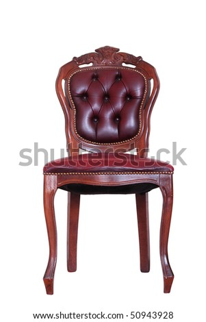 Chair - isolated on white - stock photo