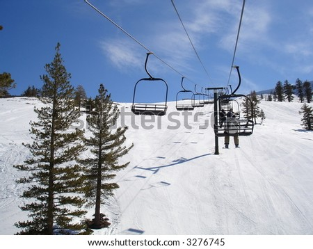 Chair Lift at a Mt. Rose Ski Resort, Lake Tahoe, California