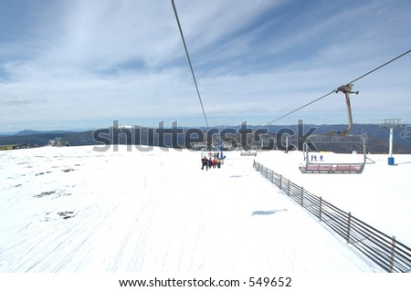 Chair Lift at the Snow