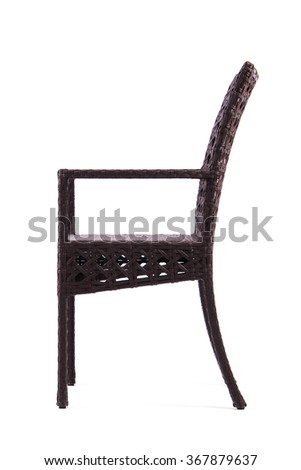 Chair made of artificial rattan