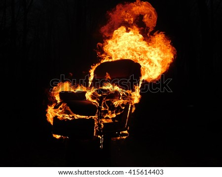 Delightful Chair On Fire