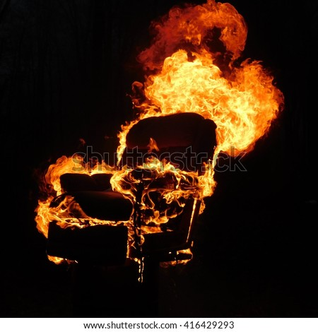 Bon Chair On Fire