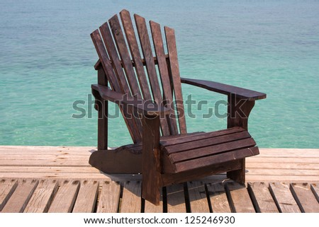 Chair on the shore near the sea in Thailand