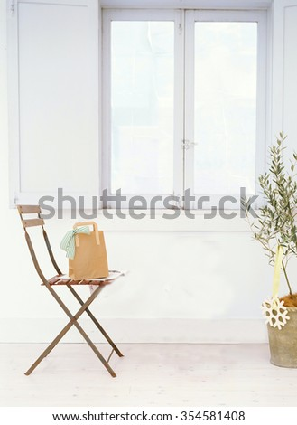 chair room interior - stock photo