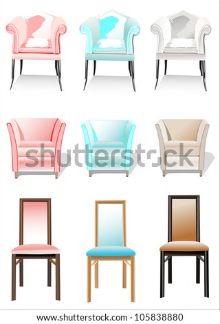 Chair Set - stock photo