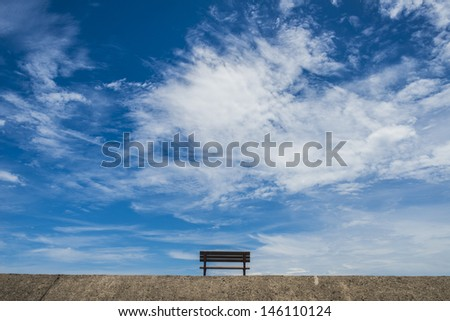 Chair with the sky - stock photo