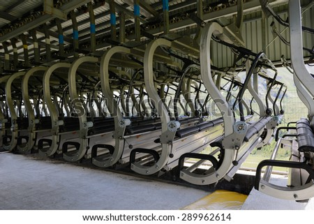 Chairlift out of service - stock photo