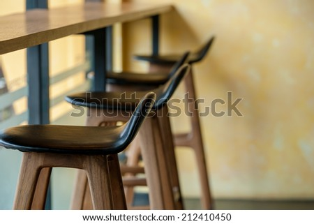 Chairs and counters For a relaxing - stock photo