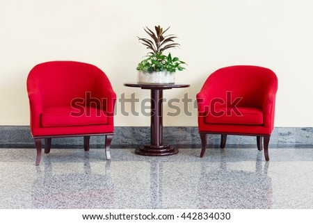 Chairs and table - stock photo