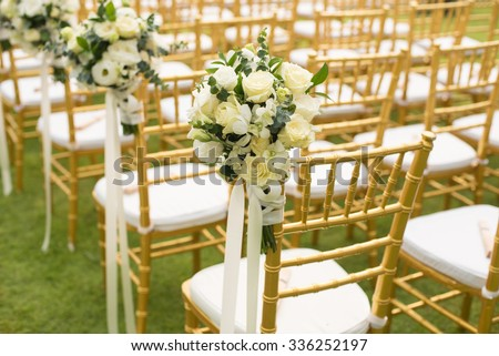 Wedding chairs stock images royalty free images vectors chairs for wedding ceremony junglespirit Gallery