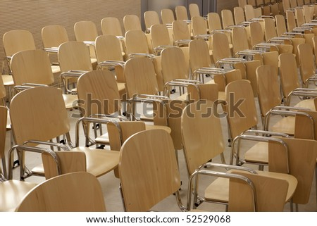 chairs in a row - stock photo
