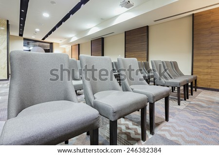 Chairs in a row in conference room   - stock photo