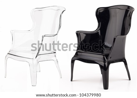Chairs in colour - stock photo