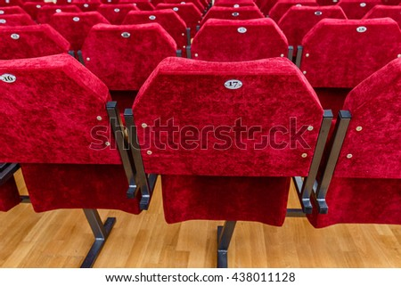Chairs in concert hall