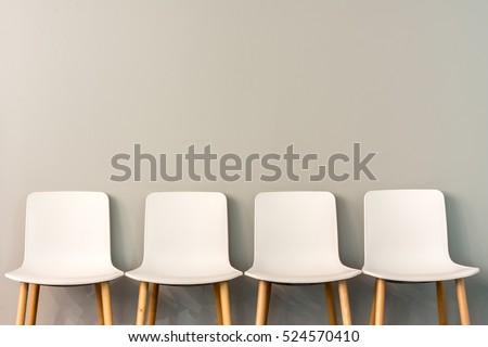 Chairs Modern Design Arranged Front Gradient Stock Photo 524570410