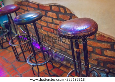 Chairs in restaurant - stock photo
