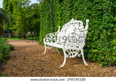 Chairs in the garden