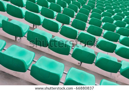 Chairs in the sports stadium - stock photo