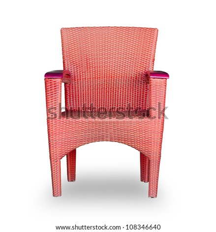 Chairs made of woven plastic - stock photo