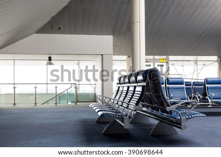 chairs on the terminal - stock photo