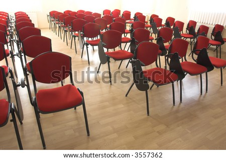 chairs rows in conference hall