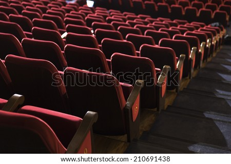 chairs theater - stock photo