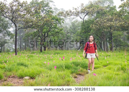 Chaiyaphum, Thailand-August 4: Tourists enjoyed in Pa Hin Ngam National Park, Chaiyaphum, Thailand, on August 4, 2015.