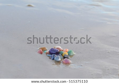 chakra stones cleansing in the sea