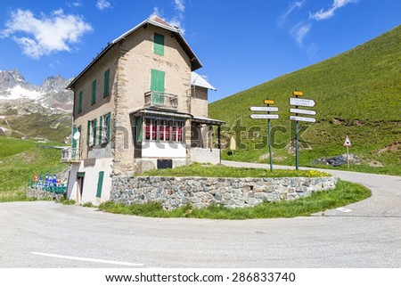 Chalet in the alps - stock photo