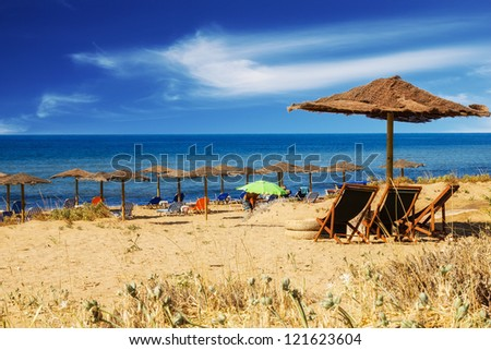 Chalikounas beach, Corfu - stock photo