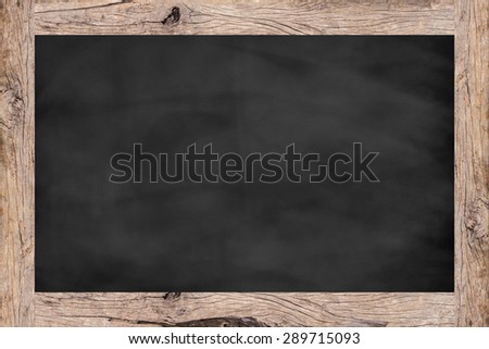 chalk board background texture with old vintage wooden frame,empty space blackboard.show/writing/draw advertising idea/product on display picture.banner/template for design,decorate.creative concept