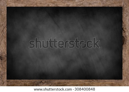 chalk board background textures with old vintage wooden frame ,blackboard concept.put and shared or advertisement your idea or product on this picture. - stock photo