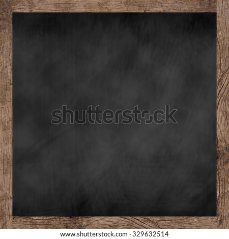 chalk board background textures with old vintage wooden frame ,blackboard concept.writing,drawing,texting your idea on display.square blackboard concept. - stock photo
