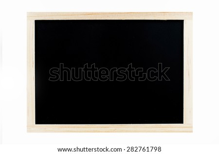 Chalk board on white blackground, Blackboard. - stock photo